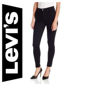 NWOT Levi's 721 High Rise Jeans Skinny Soft Black